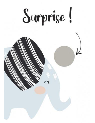 Carte à gratter surprise Eléphant