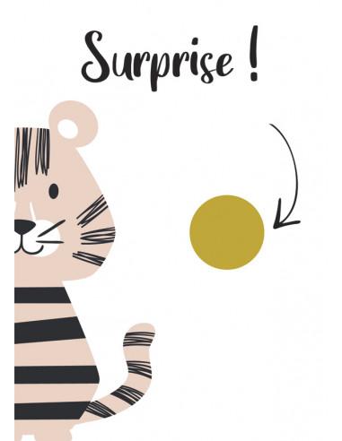 Carte à gratter surprise Tigre