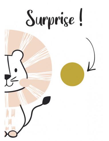 Carte à gratter surprise Lion