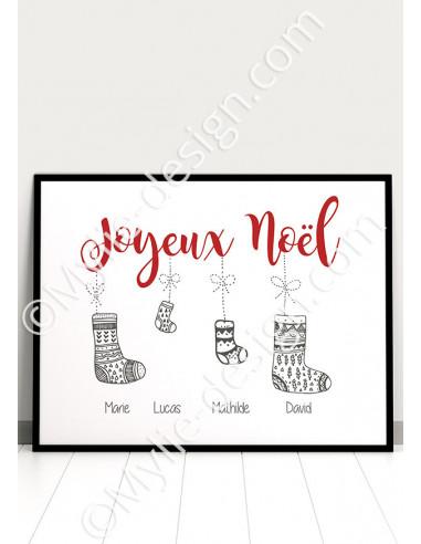 Affiche de Noël à personnaliser