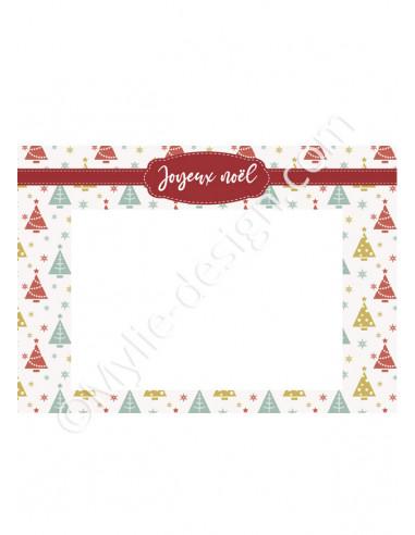 Carte de Noël avec photo