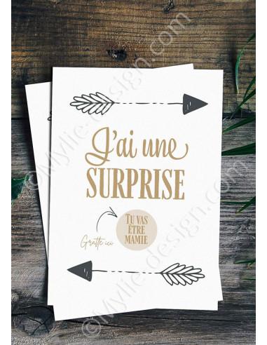 Carte à gratter surprise