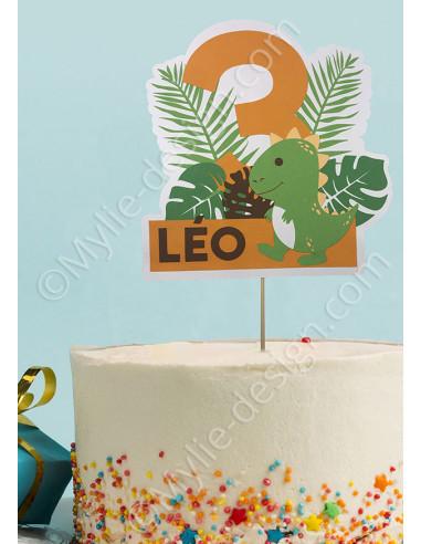 Cake Topper thème dinosaure